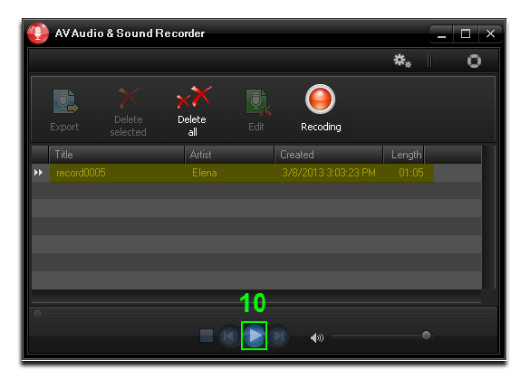 Listen recording