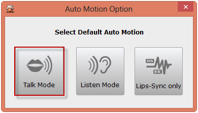 The Auto Motion Option dialog box comes out