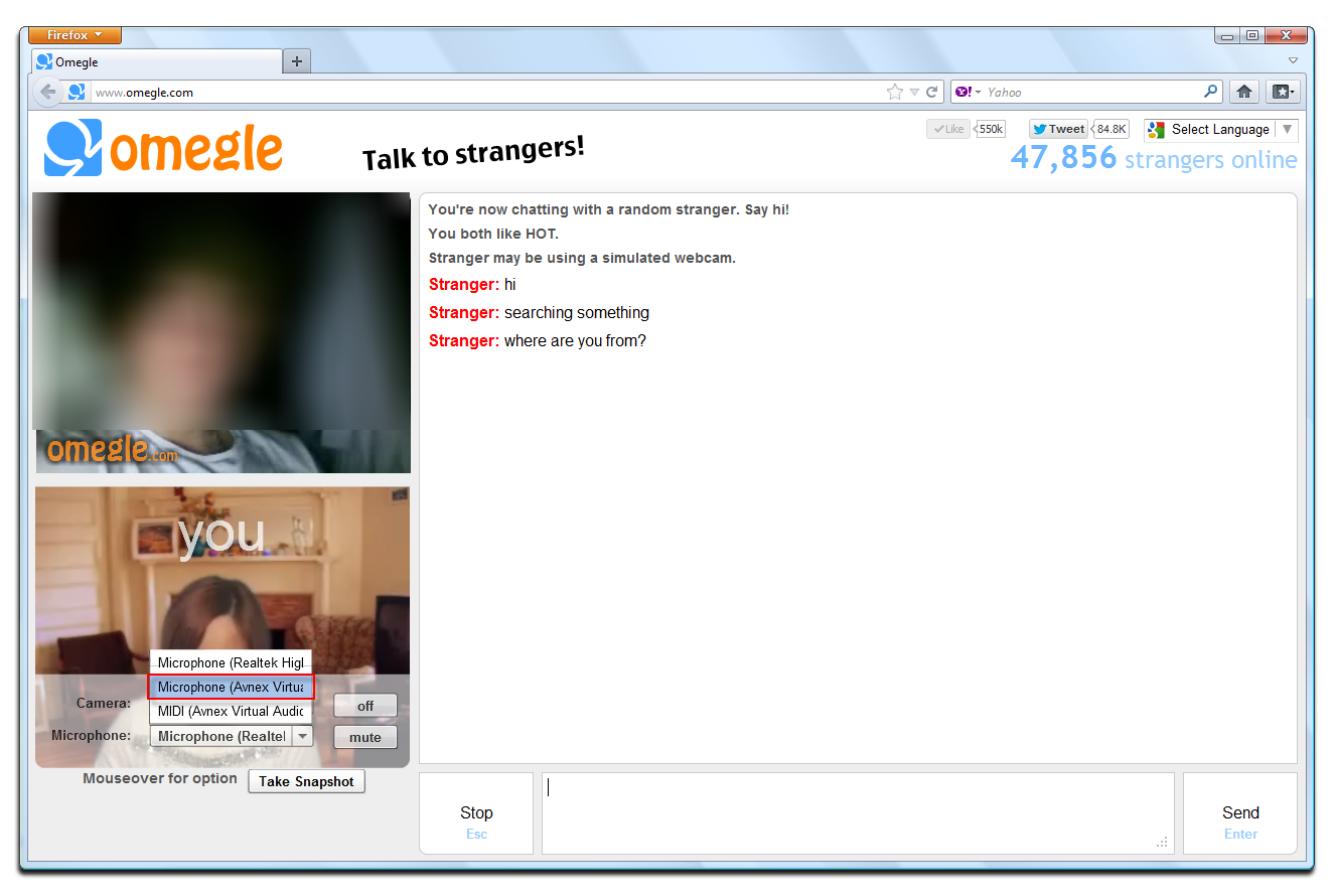 omegle video chat sex i dag