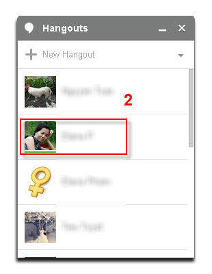 Google+ Hangout calling with VCSD - Hangouts contact list