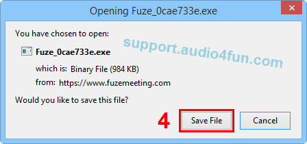 Fig 3: Download and install Opening Fuze_0cae773e.exe