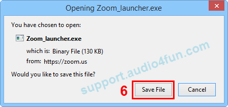 Fig 4: Download and install Opening Zoom_laucher.exe