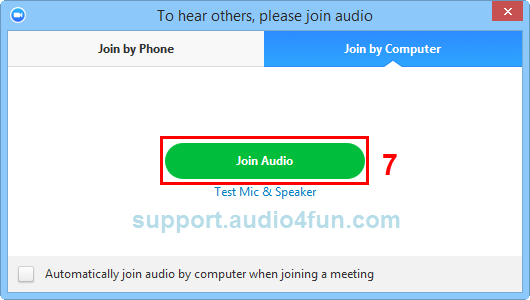 Fig 5: Join Audio