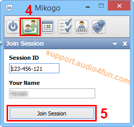 Fig 3: Join a session or host a new one