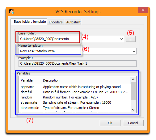 Customize VCSD Recorder settings