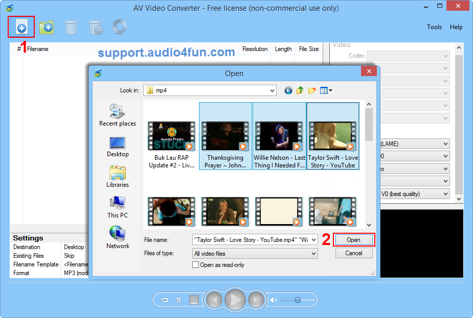 Step Down Converter >> How to convert video files to AVI format - Audio4fun Support Center