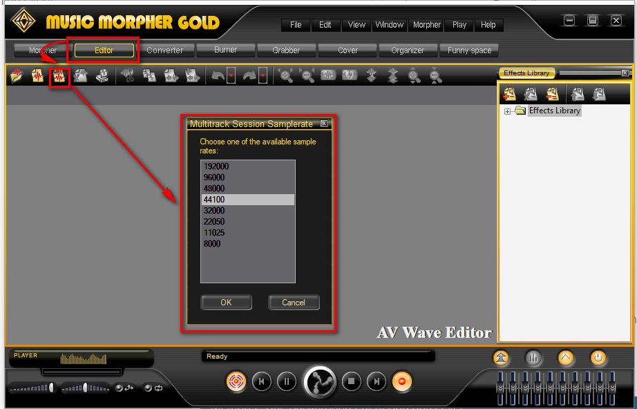 Music Morpher Gold: Create new multitrack