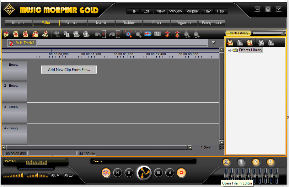 Music Morpher Gold: Add a track