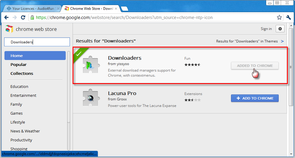Download purchased software using FlashGet on Google Chrome browser