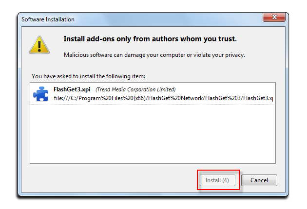 Figure 3: Install add-ons