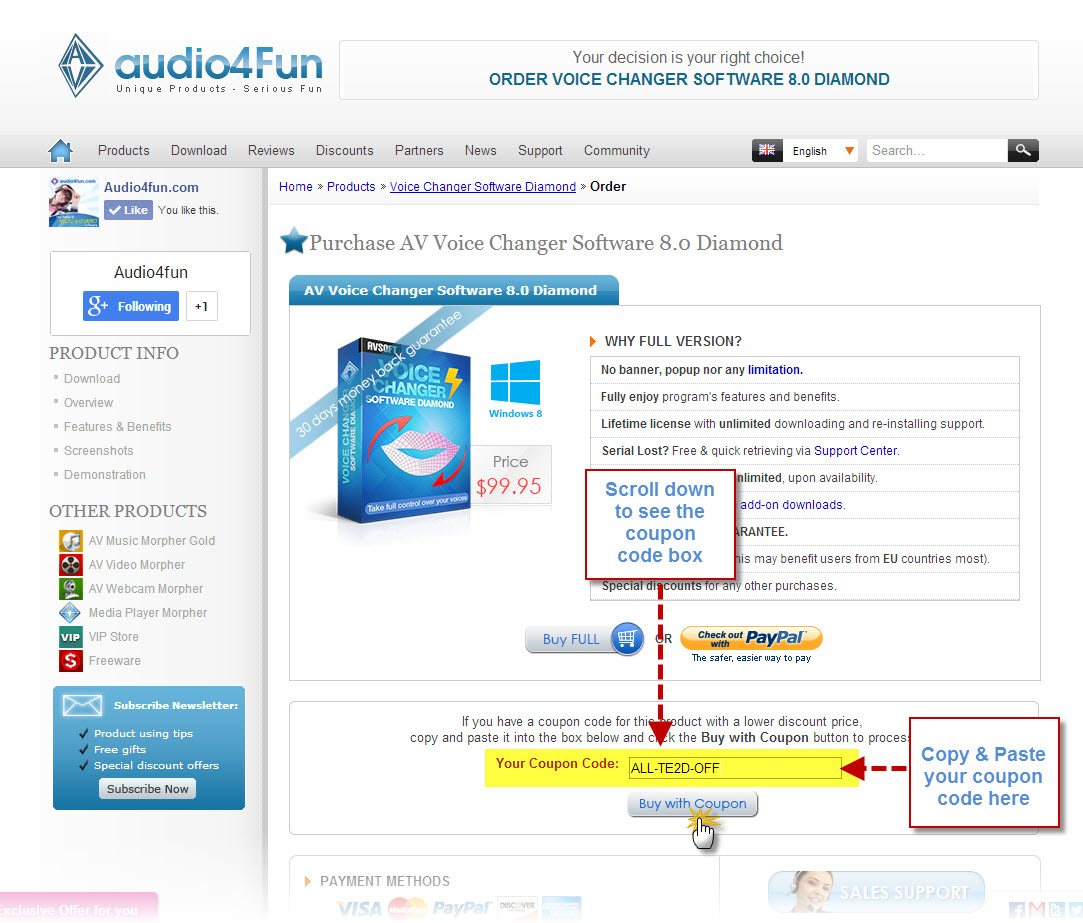Use the coupon code to buy a product for less audio4fun support center 3 copy and paste the coupon code into the appropriate textbox and click fandeluxe Image collections