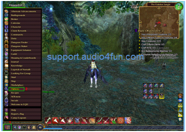 Fig 1 Change Audio settings of EverQuest II