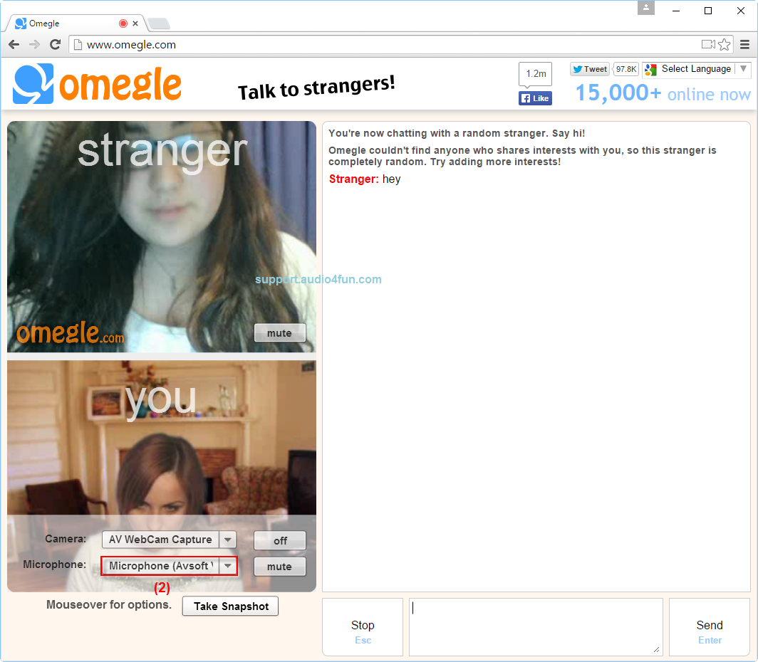 omegle girls chat service