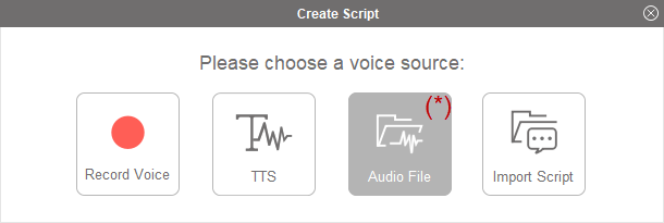 Fig 4: CrazyTalk 8 - Input Audio Files
