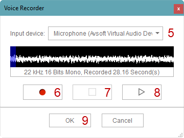 Fig 3: CrazyTalk Voice Recorder
