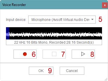Fig 3: CrazyTalk Voice Recorder