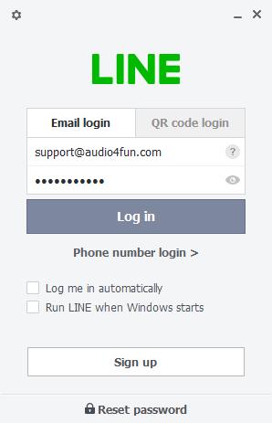 LINE Email Login