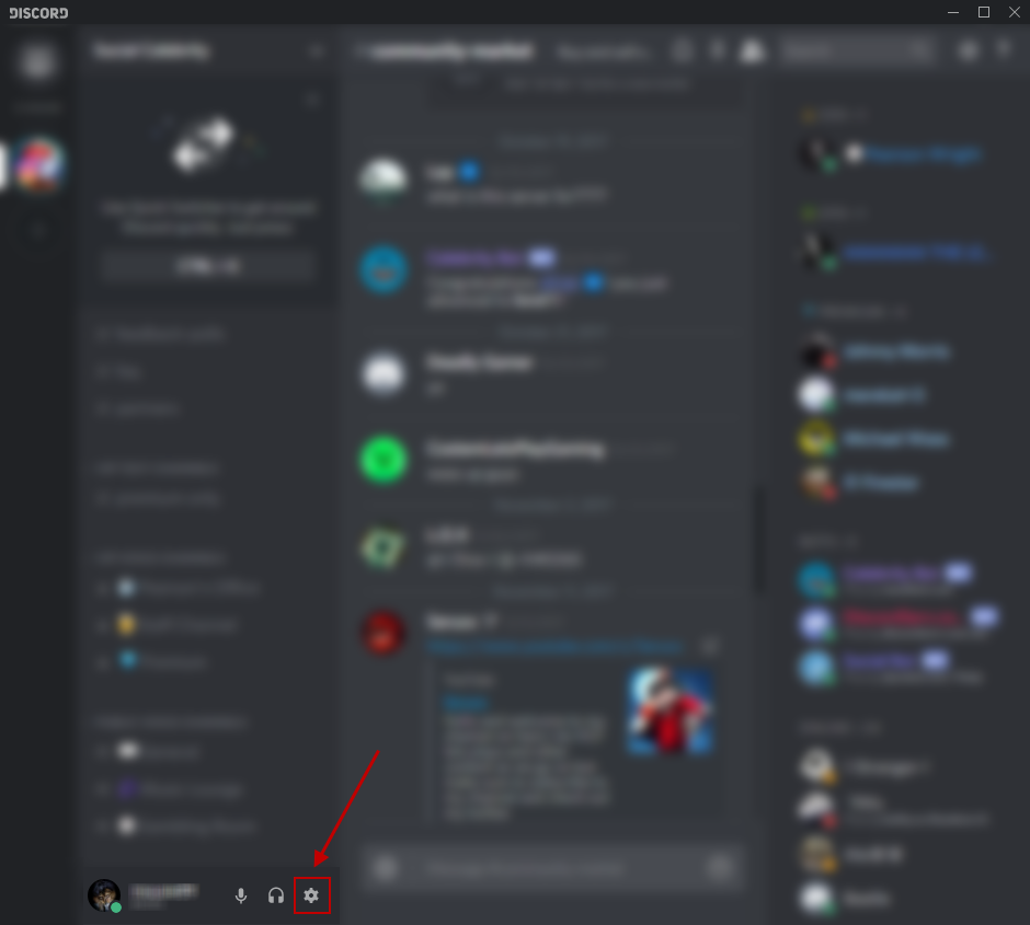 Fig 3: Discord - User Settings