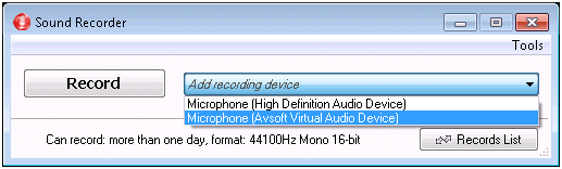 save recording in mono type 3