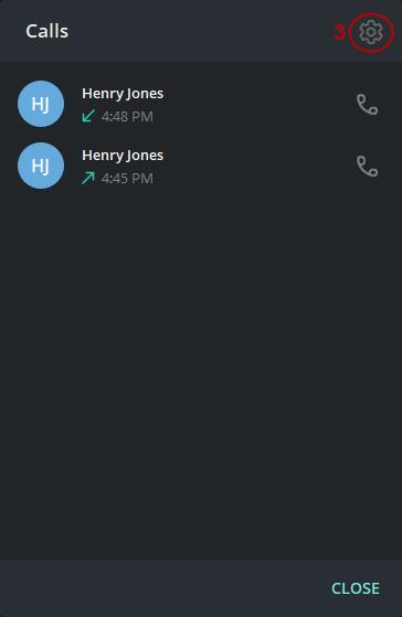 Telegram Call Settings