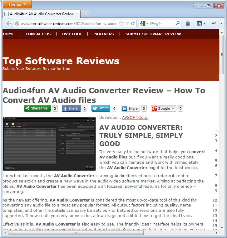 Review on Audio Converter from Top Shareware Review