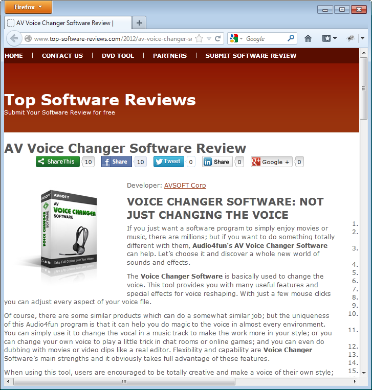 review for voice changer software from top-software-review.com