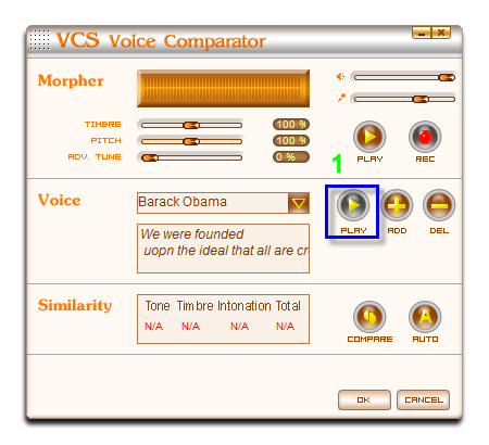 play Obama's voice
