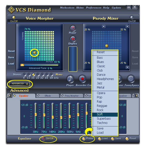 Improve output quality with Equalizer