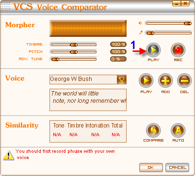 Re-listen the new sample voice