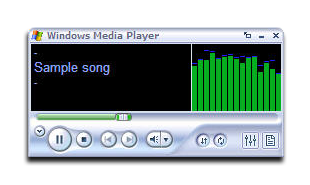Play the song with Windows Media Player