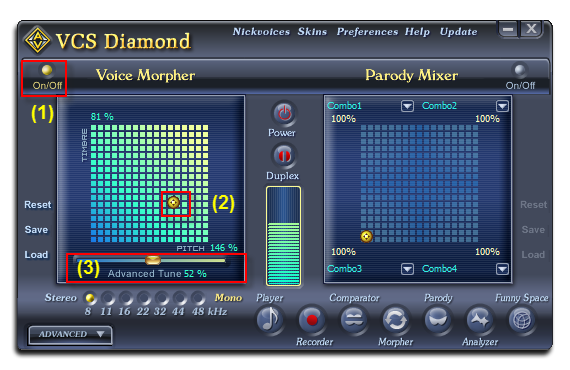 Fig 1: Voice Changer Software Diamond