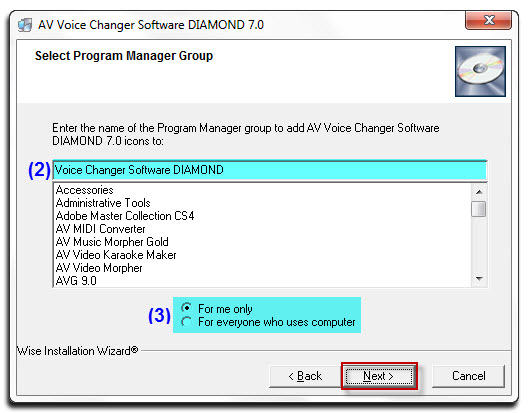 Fig 07: Select Program Manager Group
