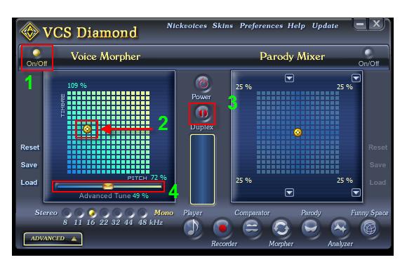 Voice Morpher panel