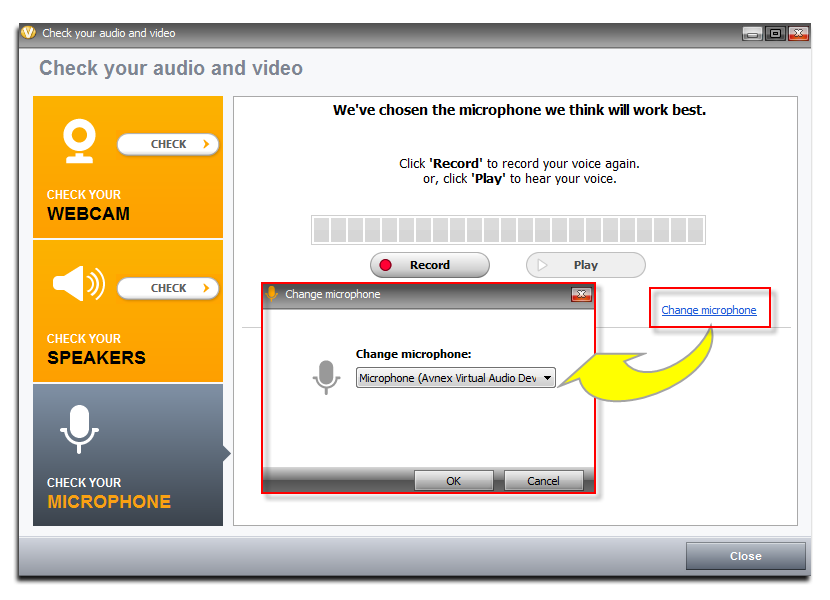 Fig 3: Check Audio and Video of ooVoo
