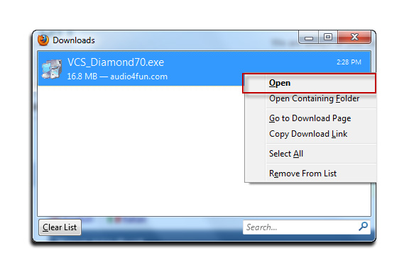 Fig 07: Download Window - Start Installation