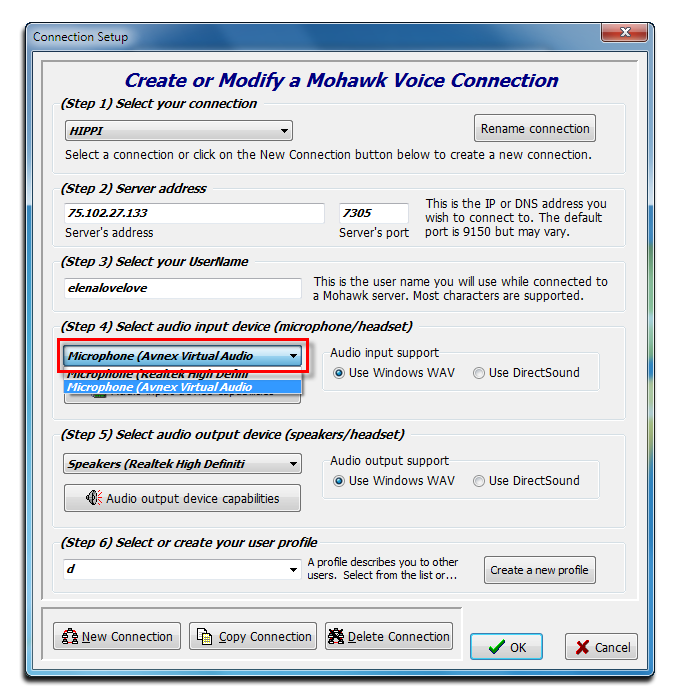 Voice Changer Software Diamond with Mohawk setting