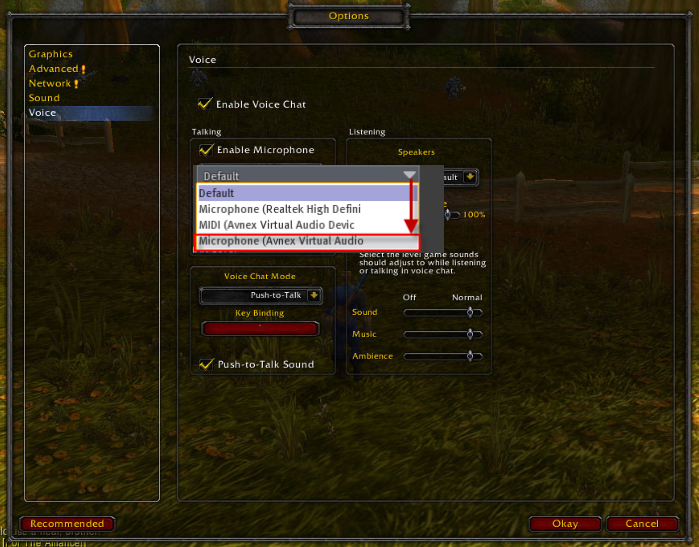 Change the audio settings of World of Warcraft with voice changer software