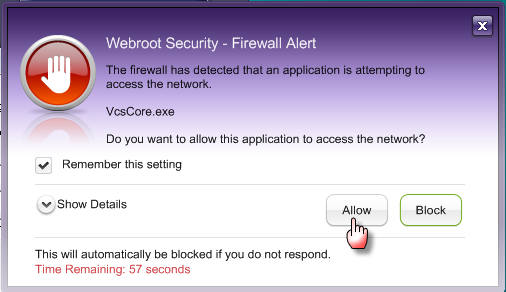 how to see if firewall is blocking a program