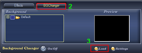 Switch to BG Changer tab