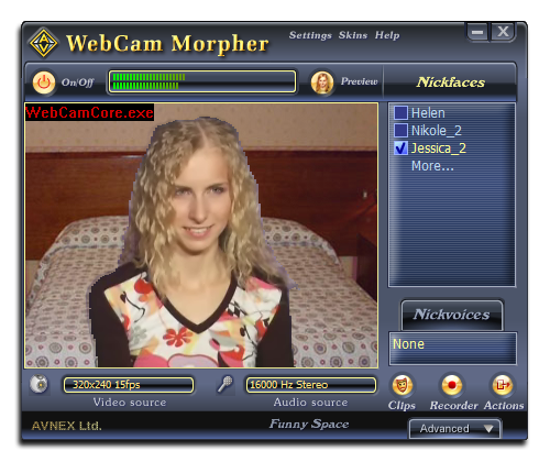 Fig 1: AV Webcam Morpher